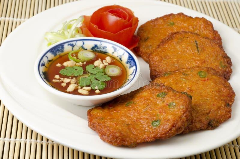 Thai fish cakes stock photos