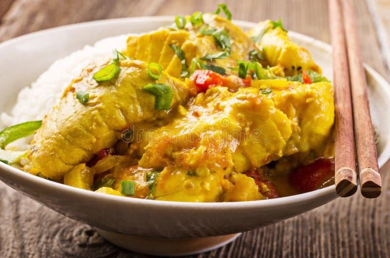 Thai Fish Curry stock image