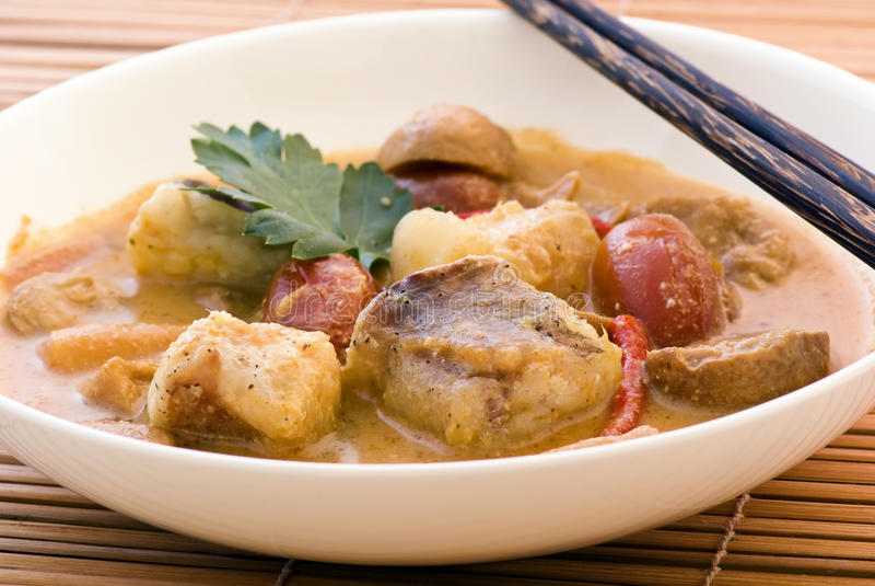 Thai fish soup royalty free stock photo