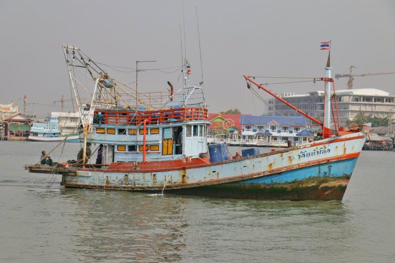 Thai fishery boat royalty free stock photo