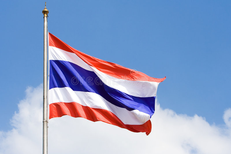 thai flagga royaltyfri bild