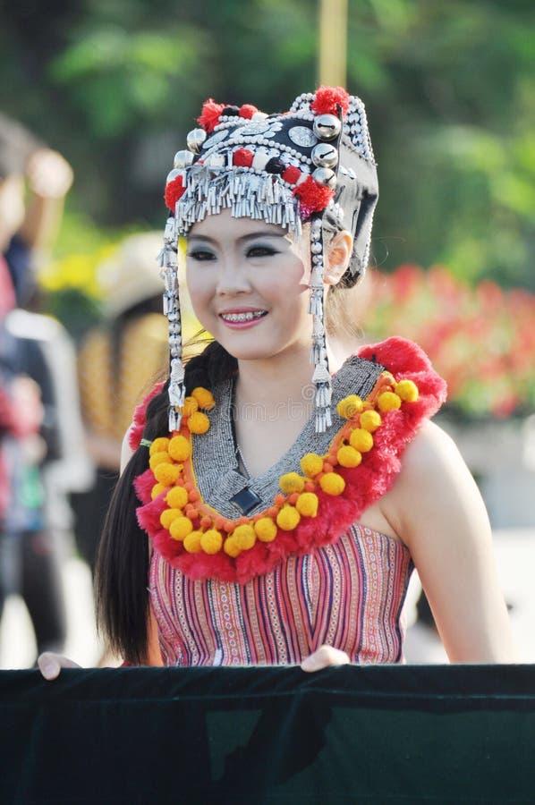 thai flickaleende arkivbild