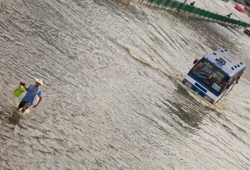 Download Thai Flood Hits Central Of Thailand Editorial Stock Photo - Image: 21937318