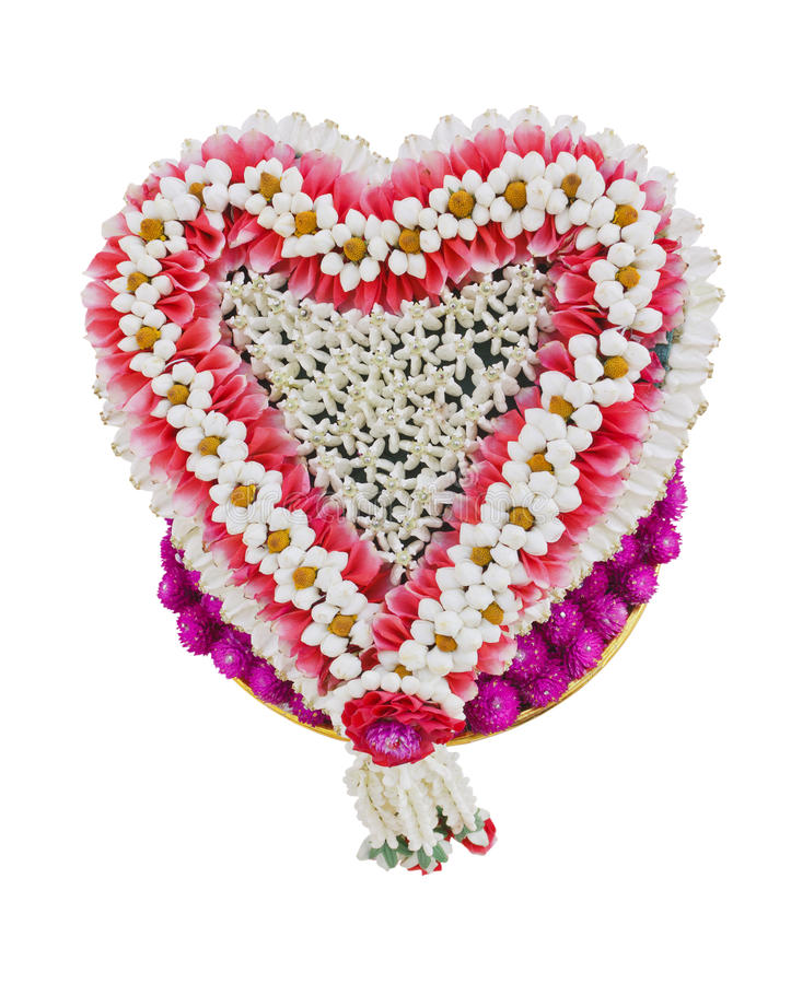 Download Thai Flower Heart Shaped Garland Stock Photo - Image: 21475296