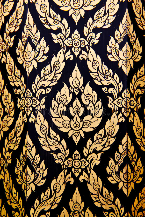 Download Thai flower pattern stock photo. Image of gold, abstract - 24952790