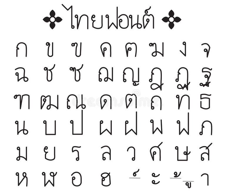 Thai font royalty free stock photos