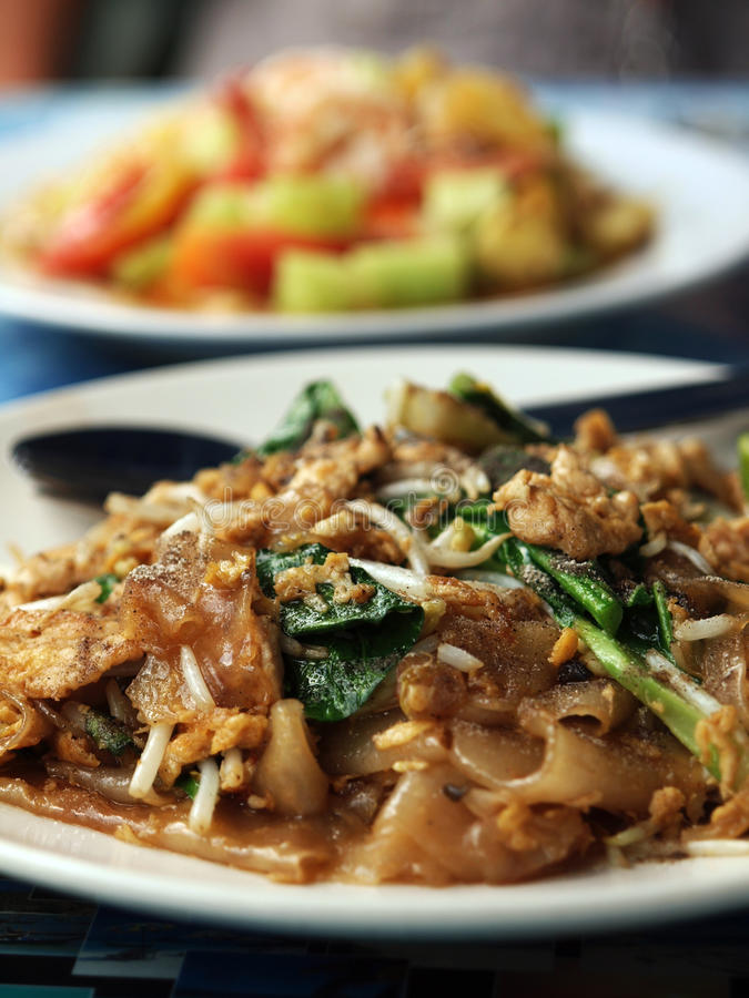 Thai food 3. Thai local food - foreground and background royalty free stock image