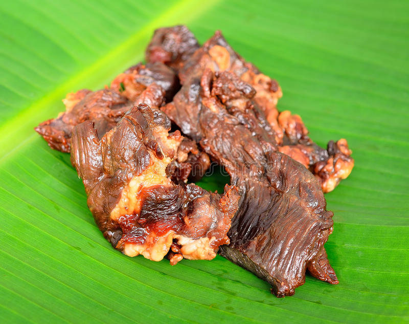 Thai food Beef Jerky royalty free stock images