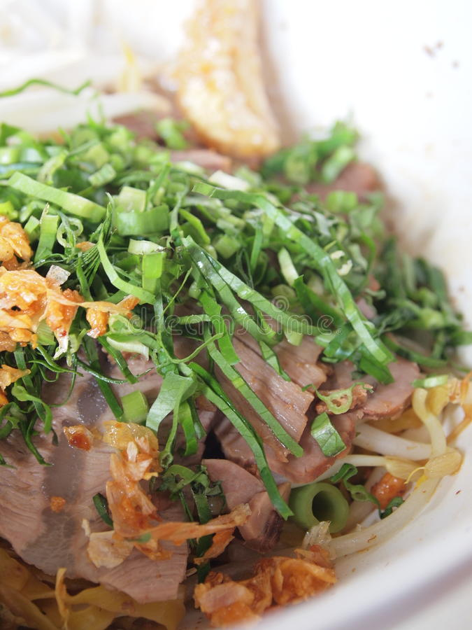 Thai food - Beef noodle stock image