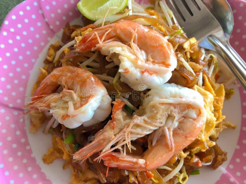 Thai food Pad thai. Thai noodle shrimp stock images
