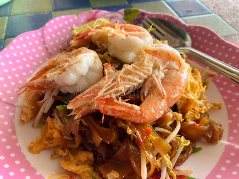 Thai food Pad thai. Thai noodle shrimp stock image