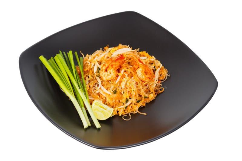 Thai food Pad thai. Thai style noodles royalty free stock images