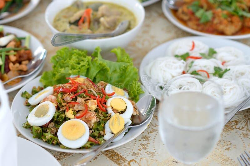 Thai food set. Set of thai food on the table stock photo