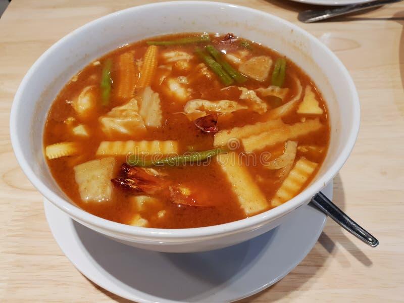 Thai food sour curry stock photos