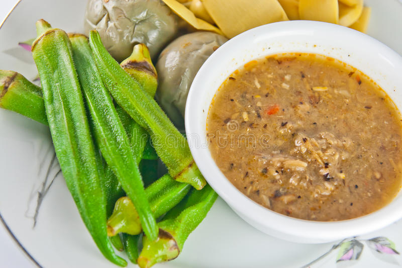 Download Thai Food Spicy Sauce With Vegetable Stock Image - Image: 20838009