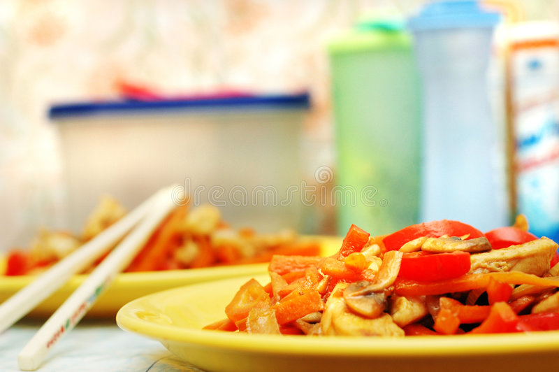 Thai food - Stir fry. Delicious Thai food - Stir fry stock image