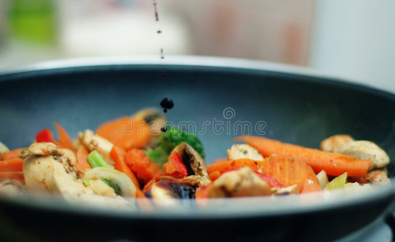 Thai food - Stir fry. Delicious Thai food - Stir fry royalty free stock images