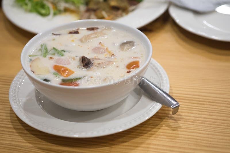 Thai food Tom Kha Kai stock photo