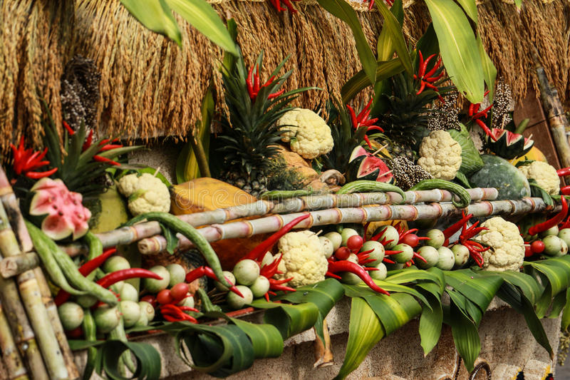 Thai food vegetables and fruits stock photos