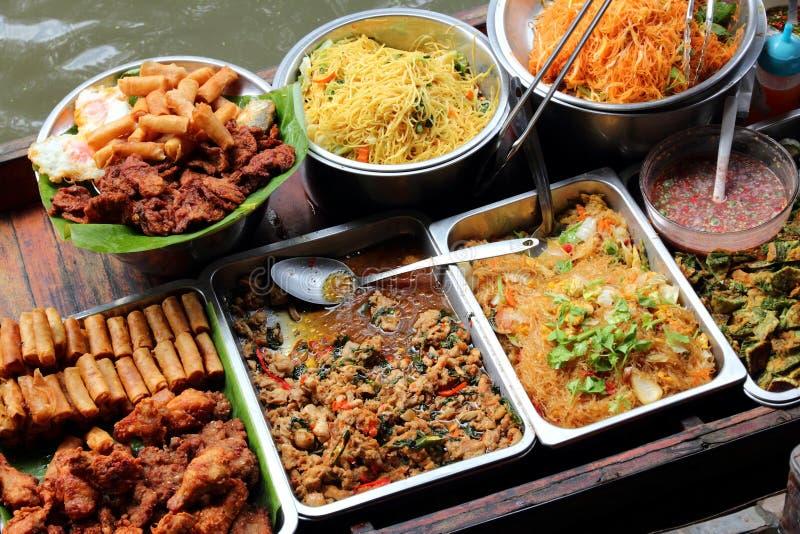 Thai food vendor stock photo