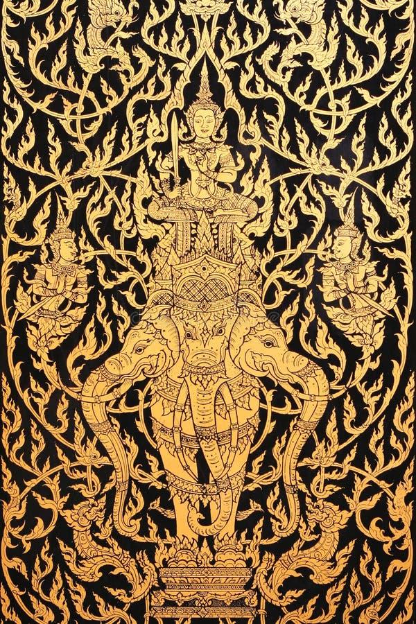 thai forntida konst arkivfoto