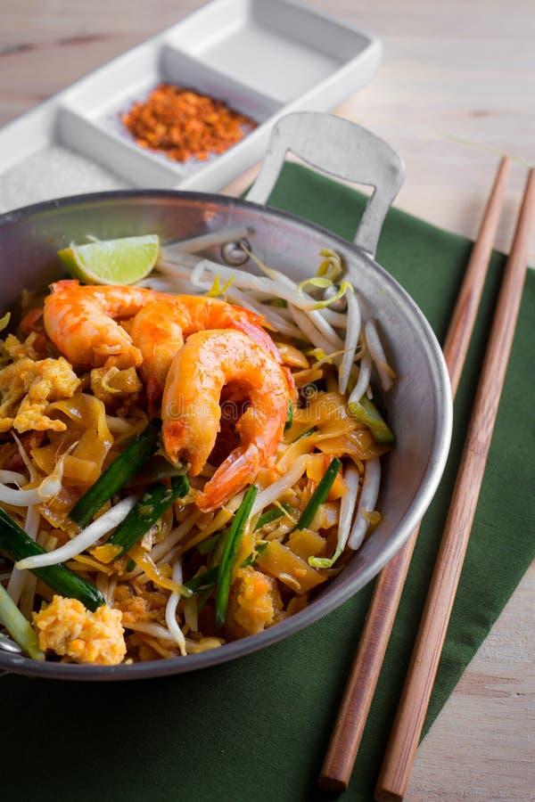 Thai fried noodles with prawn (Pad Thai), Thailand popuplar cuisine stock photography