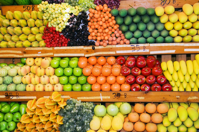 Download Thai Fruit Stand stock photo. Image of grocery, apples - 3161252