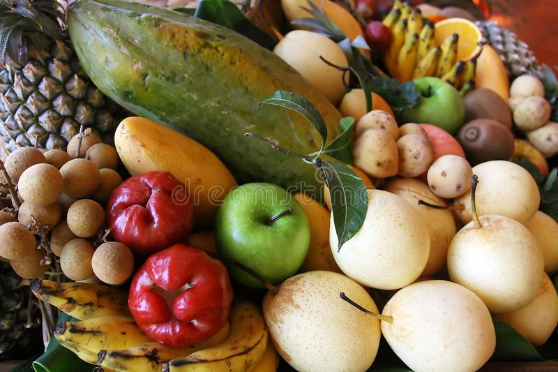 Thai fruits stock photos