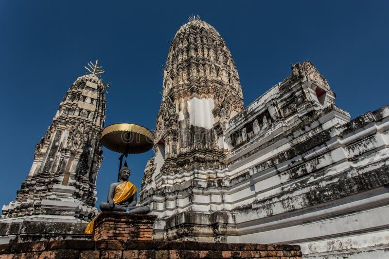 thai gammalt tempel royaltyfria bilder