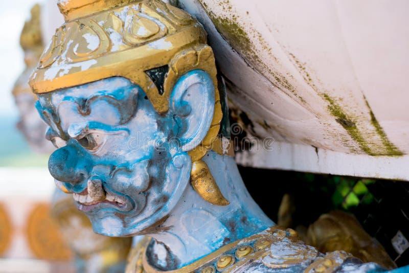 Thai giant closeup face royalty free stock image
