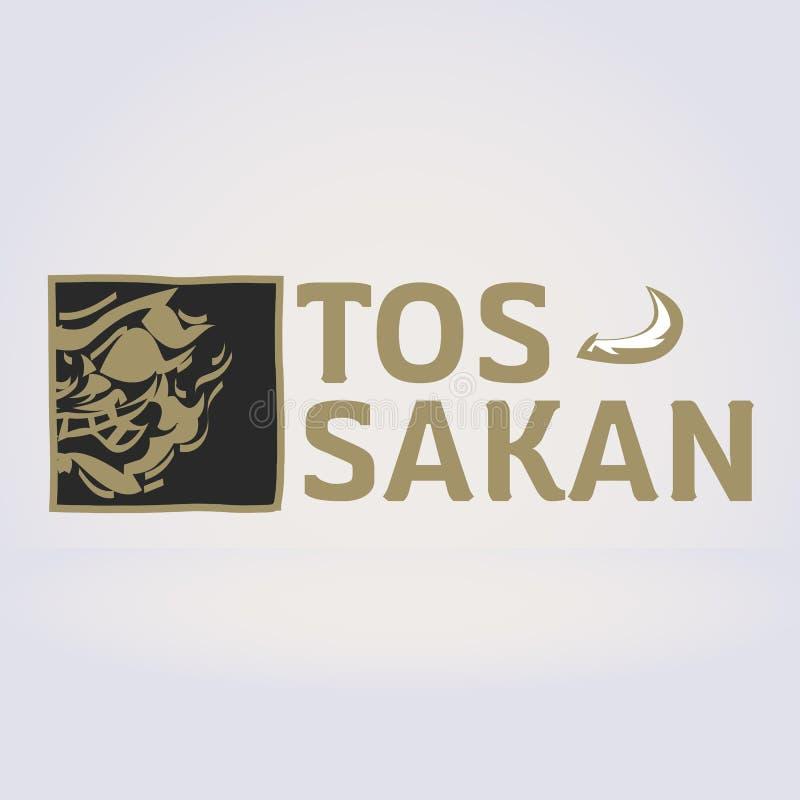 Thai giant logo. Thai ancient Tossakan. Lord Tossakan king of Gi vector illustration