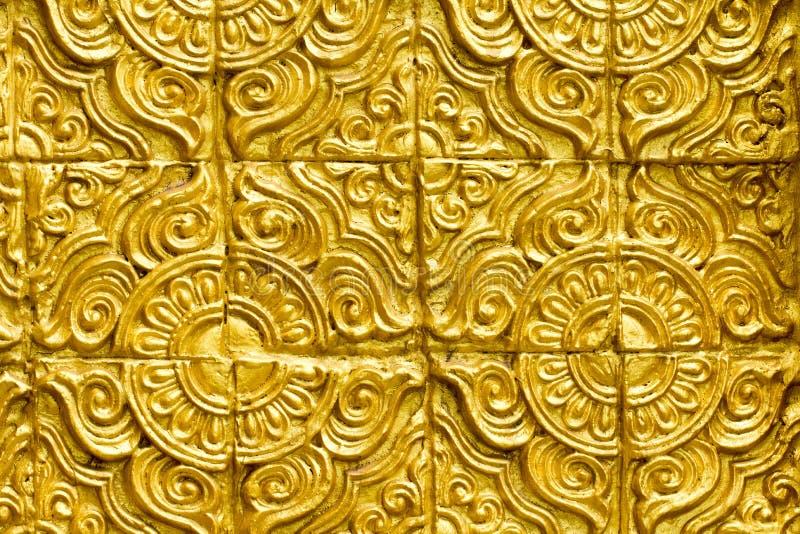 Thai golden wall beautiful design texture. stock photo
