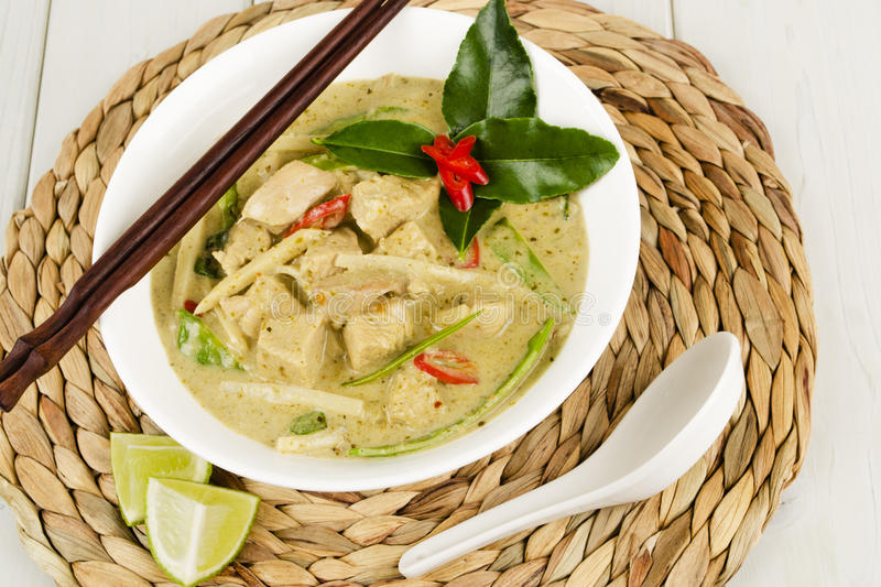 Thai Green Chicken Curry stock image