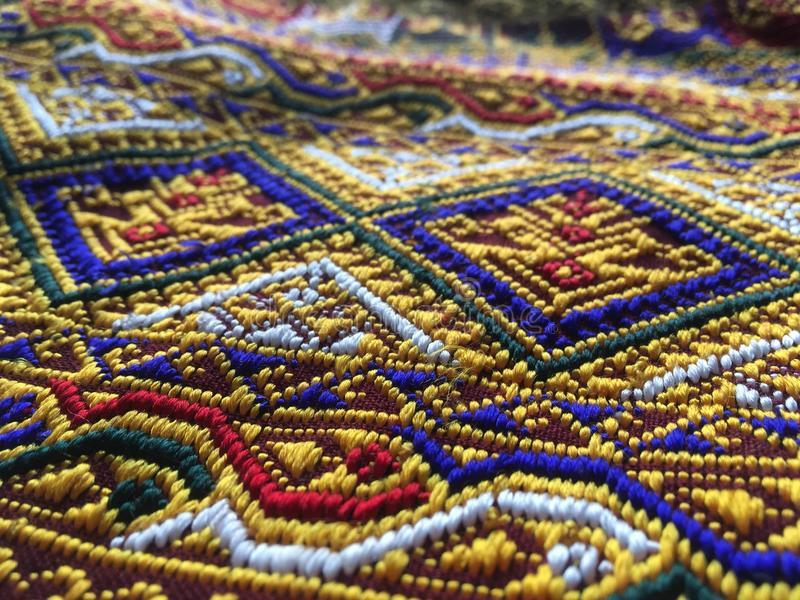 Thai Handwoven. Lablae royalty free stock photo