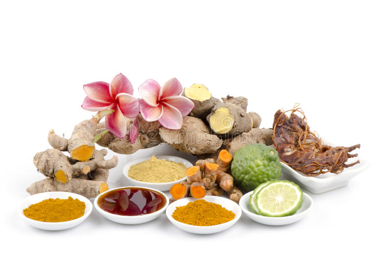 Thai Herbal Body Scrub for skin treatment stock photography
