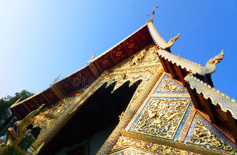 Thai historic temple details royalty free stock images