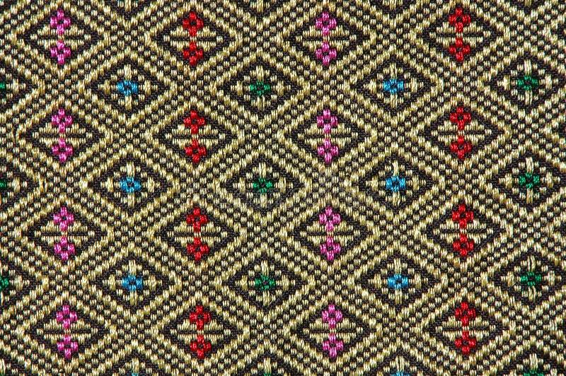thai infödd stil för torkduk royaltyfria foton