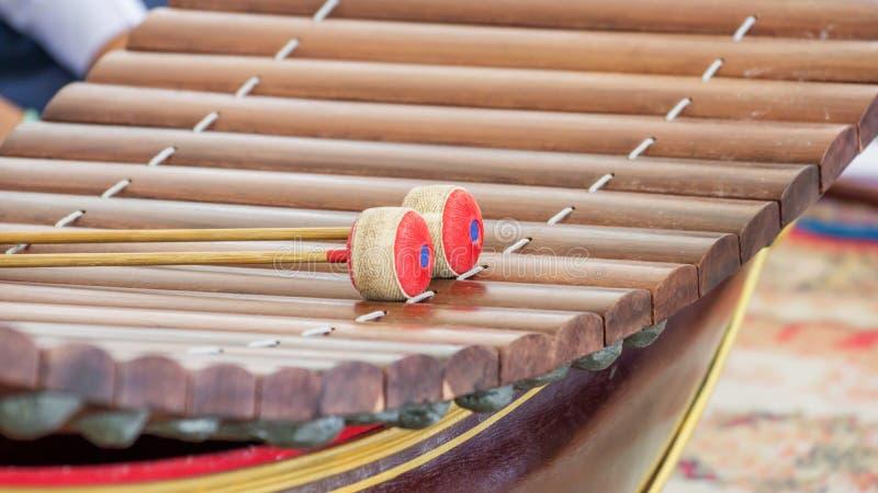 thai instrumentmusikal arkivfoton