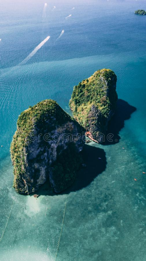 Thai Islands from the top. Earial shot of Thai Islands stock images