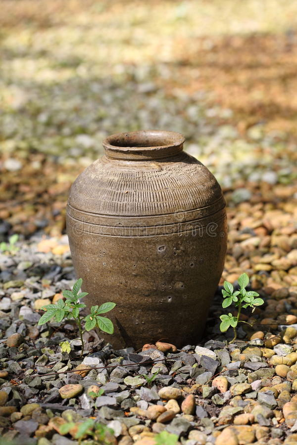Thai Jar Royalty Free Stock Photos