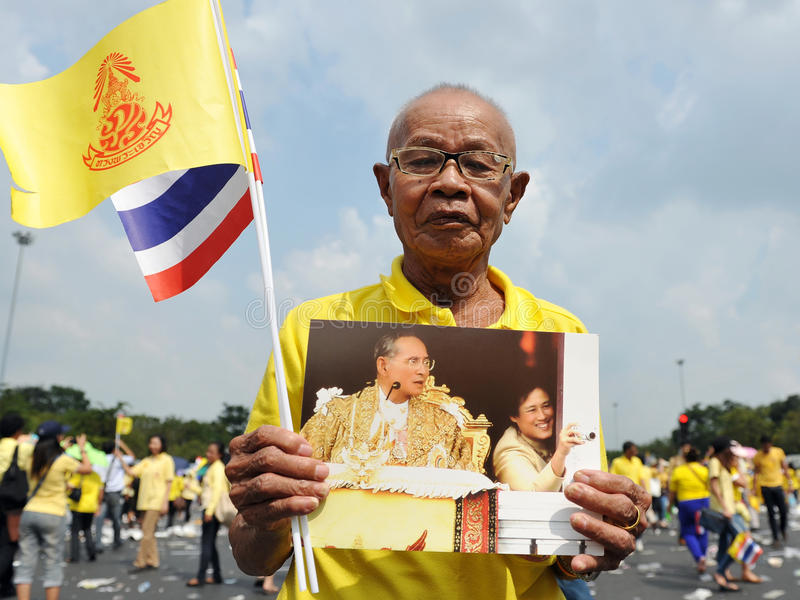 Download Thai Kings 85th Birthday editorial stock photo. Image of hall - 28043173