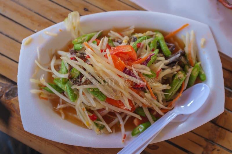 thai kryddig stil för sallad arkivbild