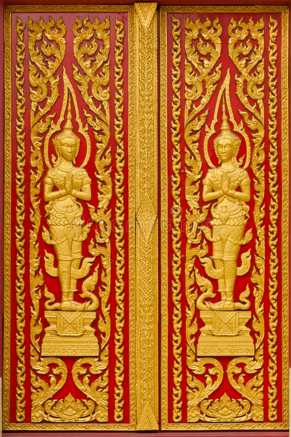 thai kyrklig dörr royaltyfri fotografi