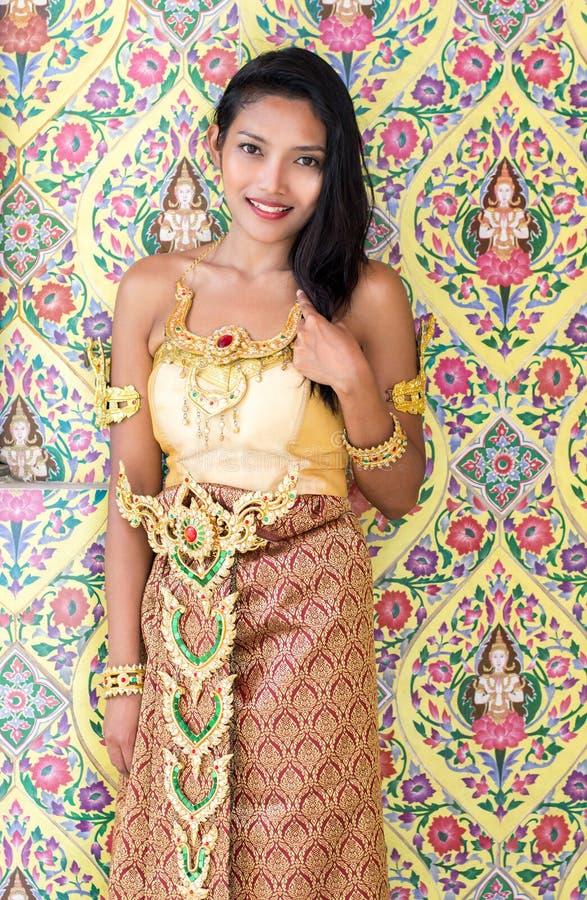 thai lady arkivbild
