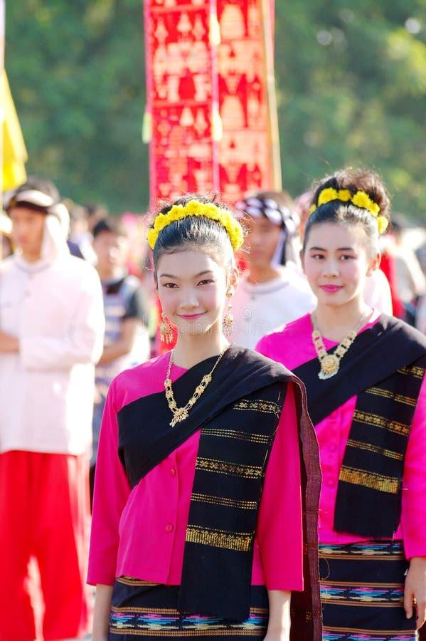 thai ladyleende royaltyfri fotografi