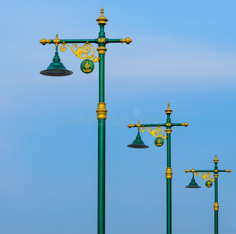 thai lampgata royaltyfri foto