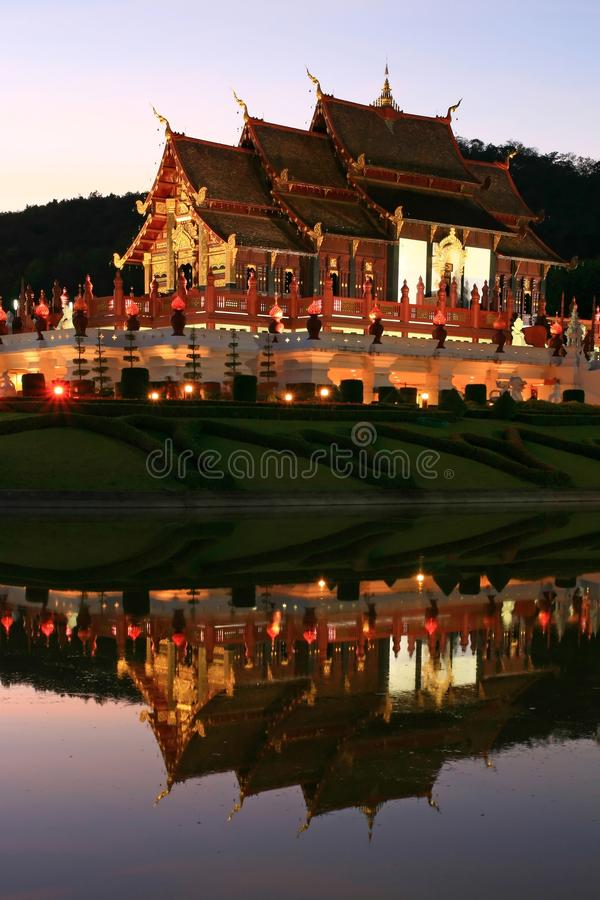 Download Thai Lanna Temple stock image. Image of park, reflection - 15208313