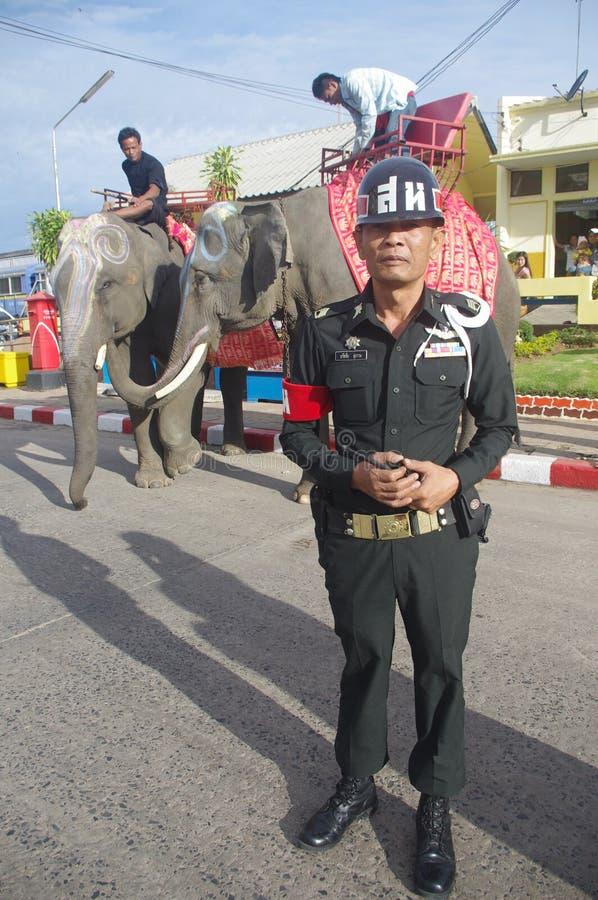 Thai law enforcement stock photo