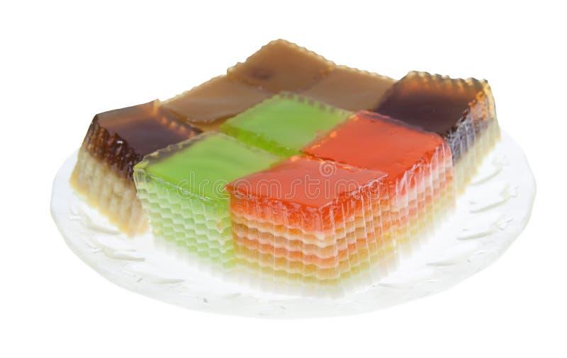 Thai layer cake. Thai sweet dessert,layer Cake stock images