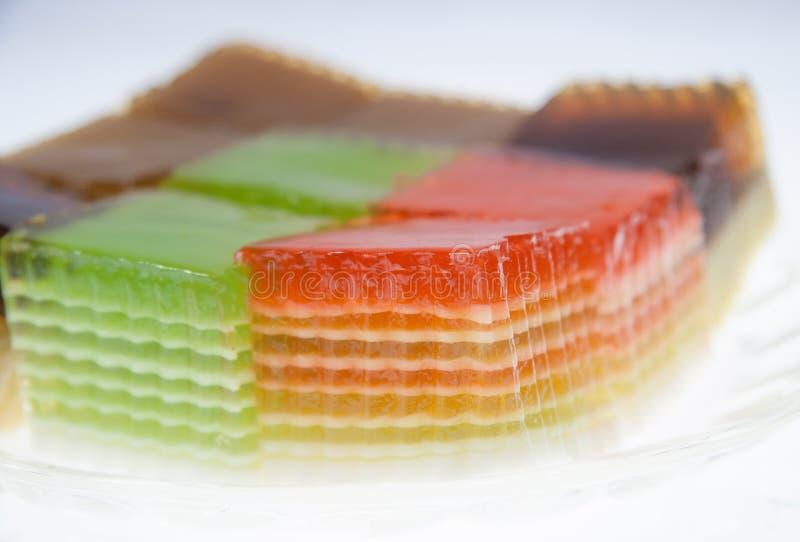 Thai layer cake. Thai sweet dessert,layer Cake royalty free stock image